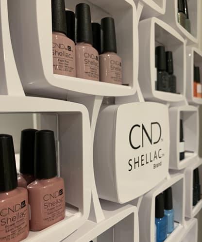Salon Interior - Nail Varnish Colours - Janey Sharp Beauty
