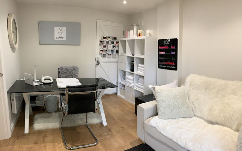Salon Interior - Nail Treatment Room - Janey Sharp Beauty